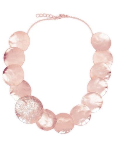 ροζ-χρυσό-επιχρυσωμένο-κολιέ-24k-σφυρήλα