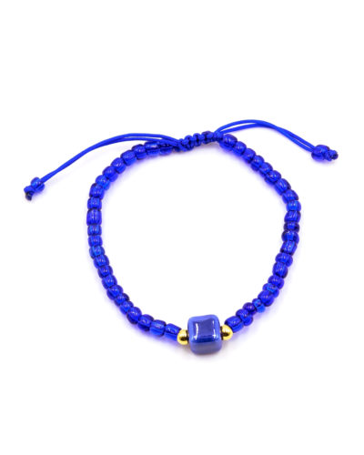 macrame-βραχιόλι-με-μπλε-κεραμικό-κύβο